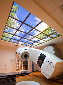 McCreery Cancer Center features a dramatic 100 square foot Luminous SkyCeiling